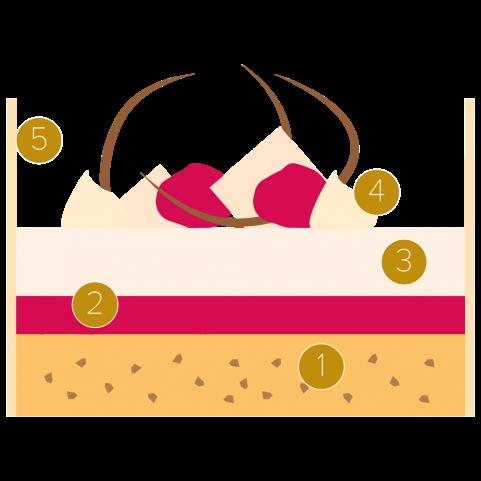 Yoghurt, rasberry and white chocolate cake