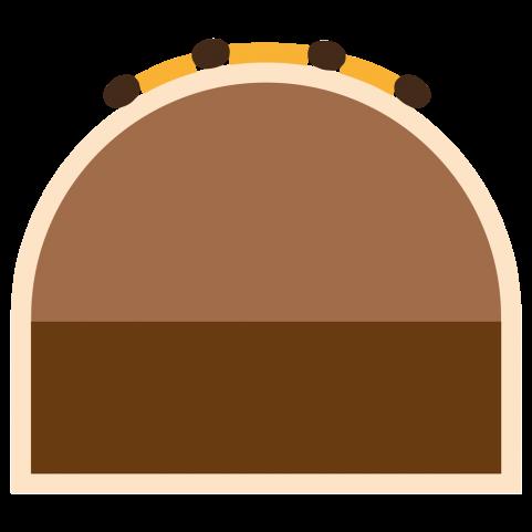 Manon with a hazelnut twist and caramel ganache