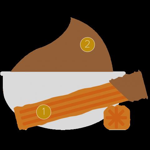 Churros & hazelnut mayonaise