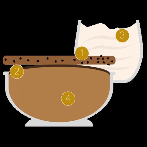 Mandarin Napoleon y souflé de chocolate