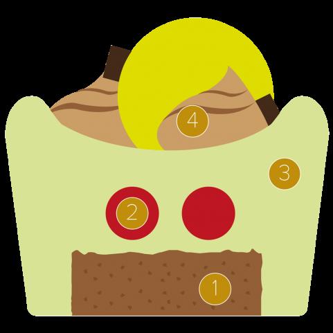 Pistachio mousse with cherry gel