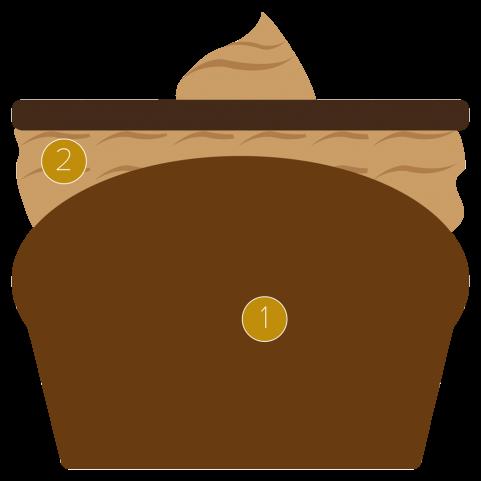 Vanilla and praline cupcake
