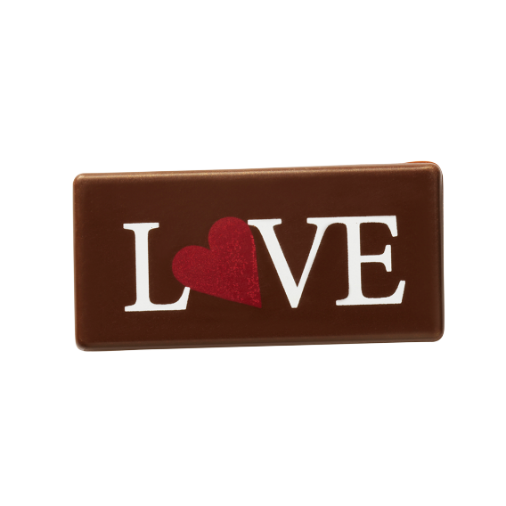 Прямоугольная пластинка «Love»