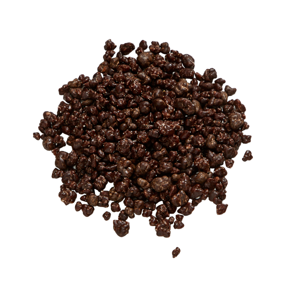 Popping candy dark chocolate coated