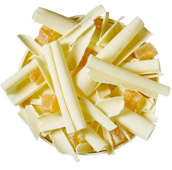 Curved Shavings - White Chocolate - 2,5kg