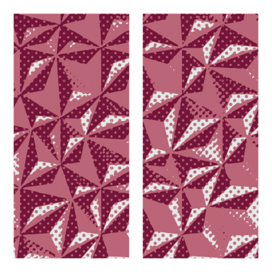 Transfer sheets Ruby Hexagon