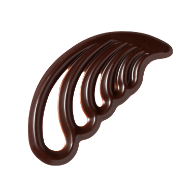 Dark Chocolate Feathers