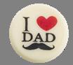 """I (heart) Dad  1"""" Round"""