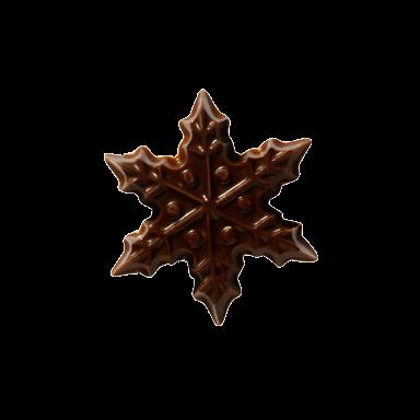 Dark Chocolate Snowflake 3cm