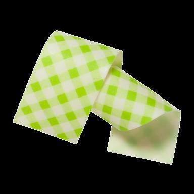 Almond and sugar collars vichy green 40mm