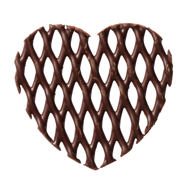 Dark Chocolate Heart Grids