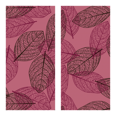Transfer sheets Ruby Leaves