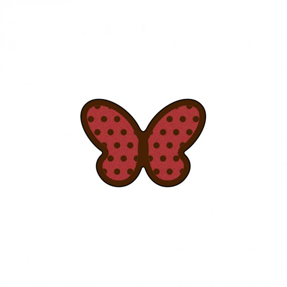 Dotty Butterfly - Chocolate Decorations - Butterfly Plaque - 196pcs