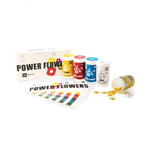 Power Flowers Discovery Box Azo - Food Colorant - 4 x 50gr