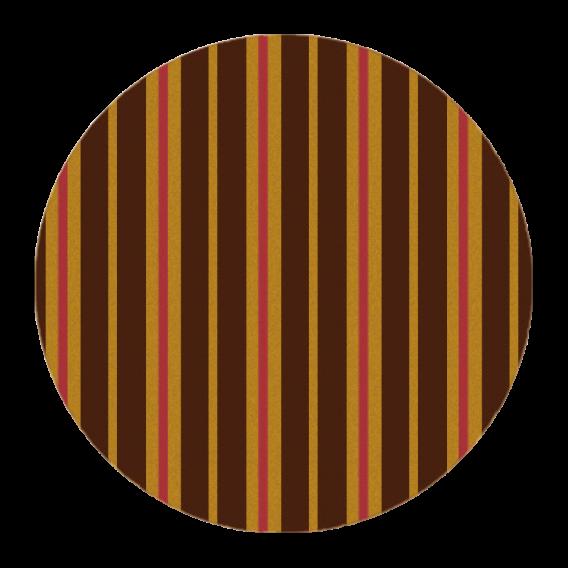 Circled Gold 2 - Chocolate Decorations - Round Plaque - 280 pcs