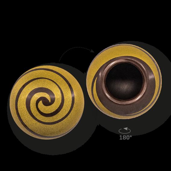 Swirl Shell Gold 2 - Dark Chocolate - Chocolate Decorations - Dessert Shell - 20 pcs