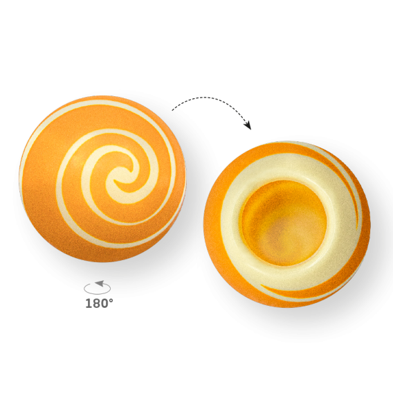 Swirl Shell Gold 2 - White Chocolate - Chocolate Decorations - Dessert Shell - 20 pcs
