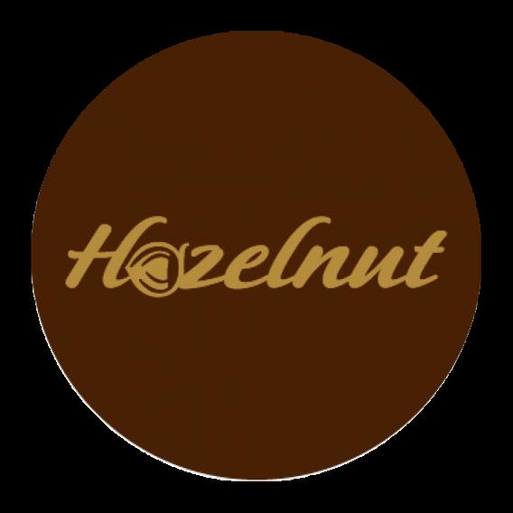 Hazelnut - Chocolate Decorations - Round Plaque - 280 pcs