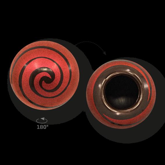 Swirl Shell Red 2 - Dark Chocolate - Chocolate Decorations - Dessert Shell - 20 pcs