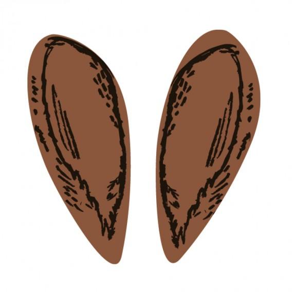 Bunny Ears - Chocolate Decorations - Shape - 240 pcs