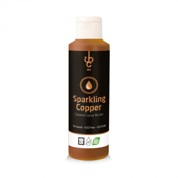 Colored Cocoa Butter Sparkling Copper - Food Colorant - 245gr