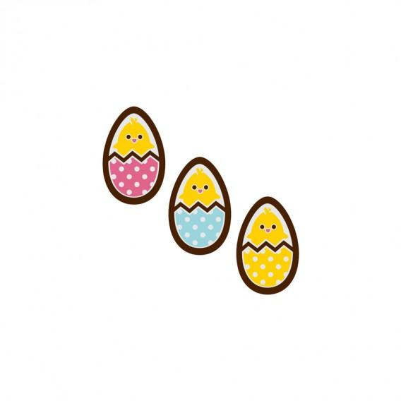 Hello World - Chocolate Decorations - Egg Plaques - 360 pcs