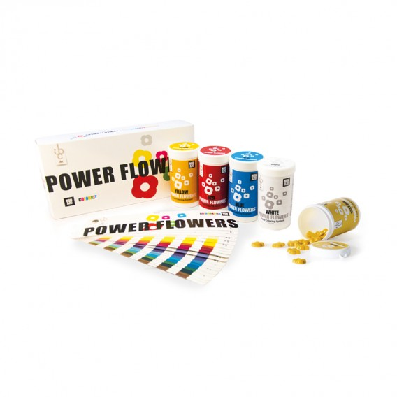 Power Flowers Discovery Box Non Azo - Food Colorant - 4 x 50gr