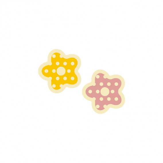 Colorful Flowers - Chocolate Decorations - Flower Plaque - 308pcs