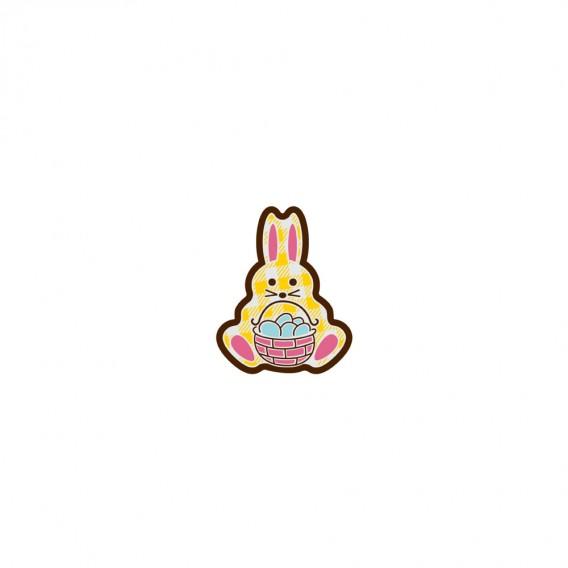 Bunny Basket - Chocolate Decorations - Bunny Plaque - 224 pcs