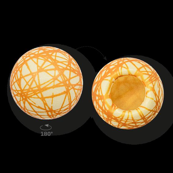 Grid Shell Gold 2 - White Chocolate - Chocolate Decorations - Dessert Shell - 20 pcs