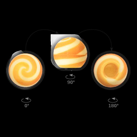 Truffle Shell Swirly Orange 2 - Chocolate Decorations - Truffle Shell - 63 pcs