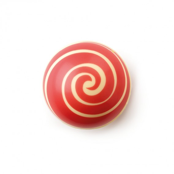 "Swirl Shell ""Red"" White Chocolate"