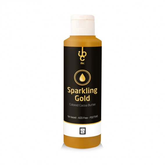 Colored Cocoa Butter Sparkling Gold - Food Colorants - 245gr