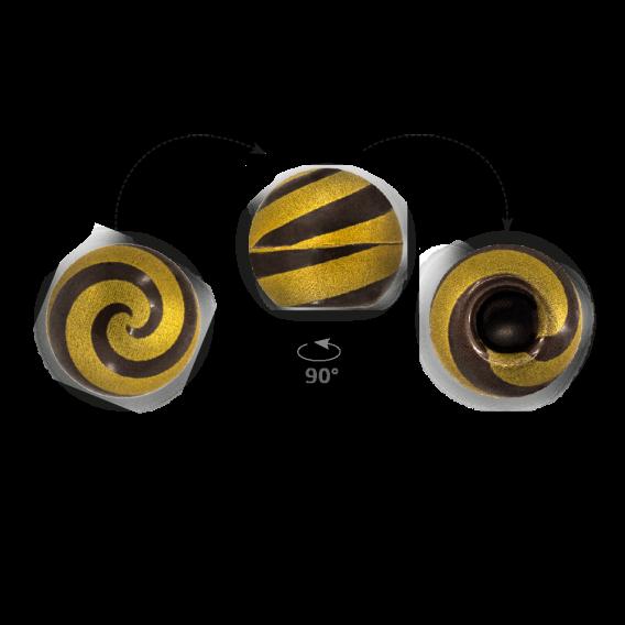 Truffle Shell Swirly Gold 2 - Chocolate Decorations - Truffle Shell - 63 pcs