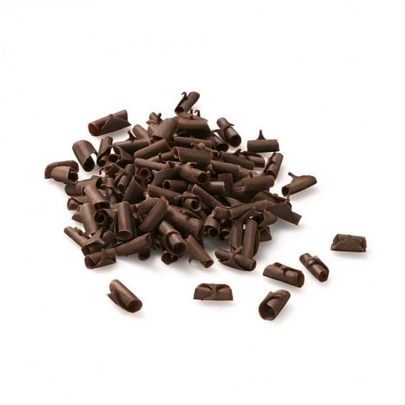 Dark chocolate curls L