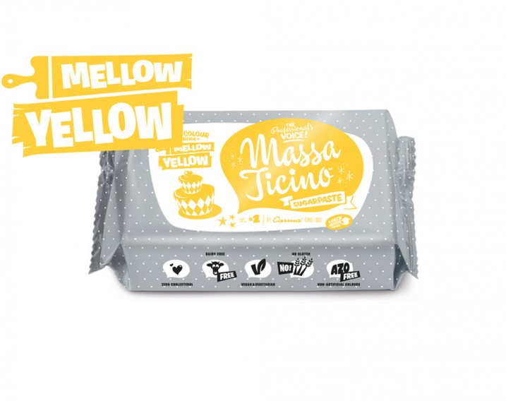 Massa Ticino Sugarpaste Mellow Yellow