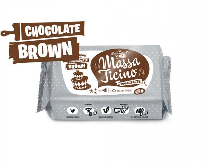 Massa Ticino Sugarpaste Chocolate Brown
