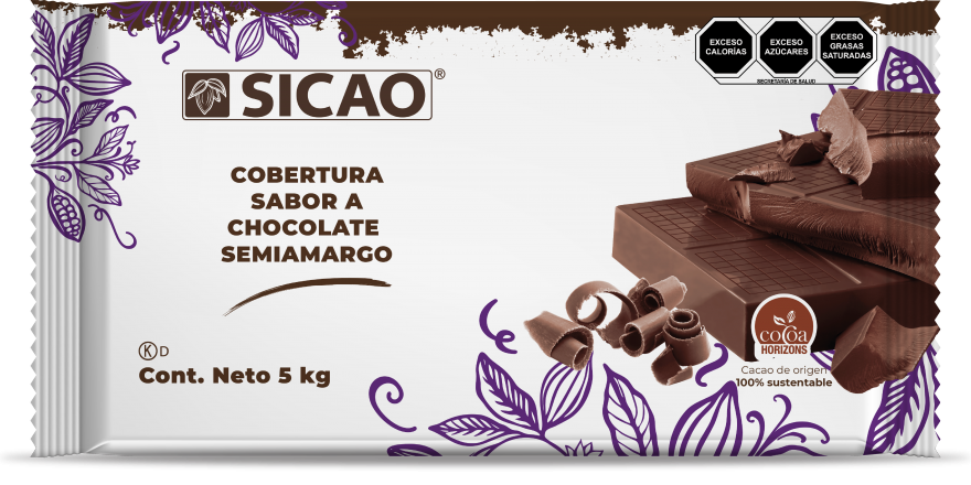 Sucedáneo - Sabor Chocolate Semiamargo - Marqueta - 5 kg
