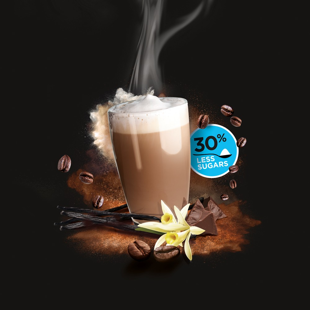 Caprimo Cappuccino Vanille Less Sugars